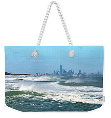 Windy View Of Nyc From Sandy Hook Nj Weekender Tote Bag