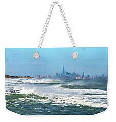Windy View Of Nyc From Sandy Hook Nj Weekender Tote Bag by Gary Slawsky