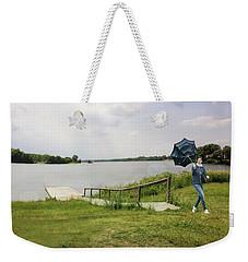 Windy Walk Weekender Tote Bag