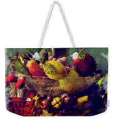 Wine And Fruit Bowl Still Life Weekender Tote Bag