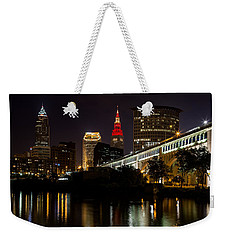 Wine And Gold In Cleveland Weekender Tote Bag by Dale Kincaid