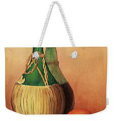 Wine And Oranges Weekender Tote Bag by Pattie Calfy