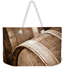 Wine Barrel In Cellar Weekender Tote Bag