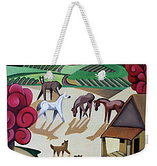 Wine Farm Weekender Tote Bag