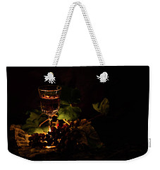 Wine Glass And Grapes Weekender Tote Bag