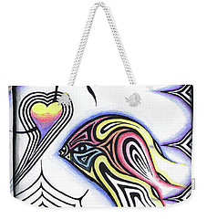 Wine Glass Fish Weekender Tote Bag