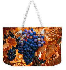Wine Grapes Of Many Colors Weekender Tote Bag by Lynn Hopwood