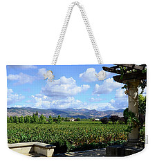 Weekender Tote Bag featuring the photograph Wine Please by Corinne Rhode