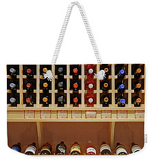 Weekender Tote Bag featuring the photograph Wine Rack - 1 by Nikolyn McDonald