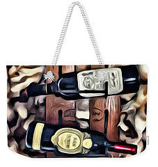 Wine Rack Weekender Tote Bag