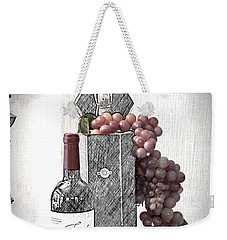 Weekender Tote Bag featuring the photograph Wine Tasting Evening by Sherry Hallemeier