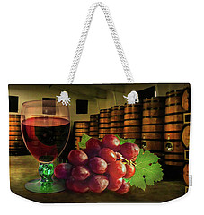 Weekender Tote Bag featuring the photograph Wine Tasting by Hanny Heim