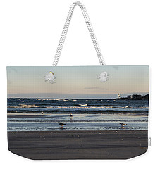 Wingaersheek Beach Seagulls At Sunrise Weekender Tote Bag