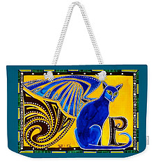 Winged Feline - Cat Art With Letter P By Dora Hathazi Mendes Weekender Tote Bag