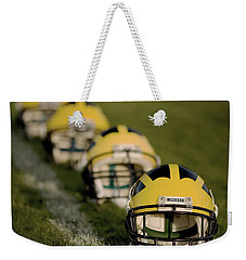Winged Helmets On Yard Line Weekender Tote Bag