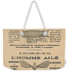 Winged Man Weekender Tote Bag