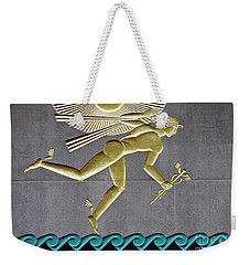 Weekender Tote Bag featuring the photograph Winged Mercury by Sarah Loft