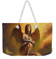 Winged Vamp Weekender Tote Bag