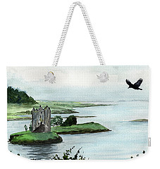 Winging Over Stalker Weekender Tote Bag