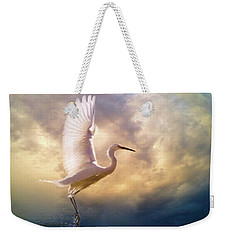 Weekender Tote Bag featuring the digital art Wings Of Light by Nicole Wilde