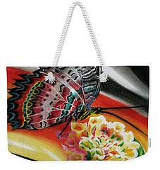 Weekender Tote Bag featuring the painting Transforming Winds     by Peter Piatt