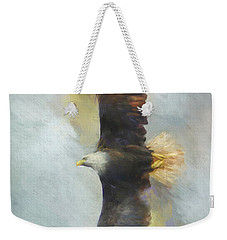 Wingspan Bald Eagle Art Weekender Tote Bag
