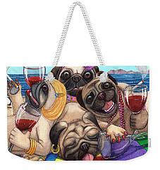 Wining Pile Of Pugs Weekender Tote Bag