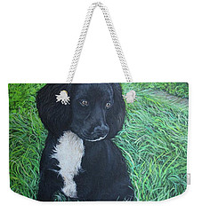 Weekender Tote Bag featuring the painting Winnie by Tom Roderick