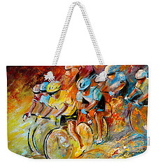 Winning The Tour De France Weekender Tote Bag