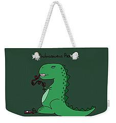 Winosaurus Rex Weekender Tote Bag by Tamera Dion
