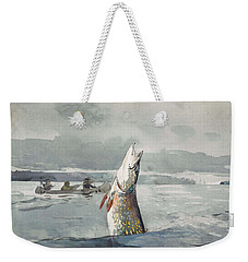 Winslow Homer   Pike  Lake St  John 189 7 Weekender Tote Bag