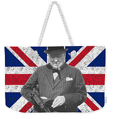 Winston Churchill And His Flag Weekender Tote Bag
