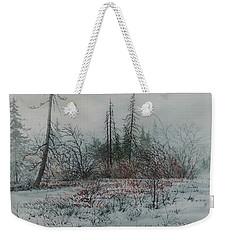 Winter, Alberta Weekender Tote Bag