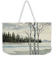 Winter Alders Weekender Tote Bag