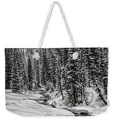 Winter Alpine Creek II Weekender Tote Bag