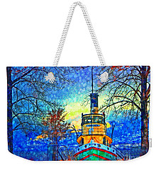 Winter And The Tug Boat 2 Weekender Tote Bag by Tara Turner