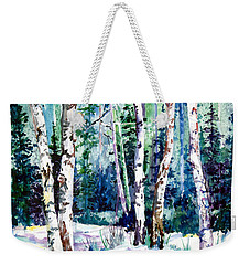 Winter Aspen Weekender Tote Bag