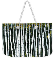 Winter Aspen 3 Weekender Tote Bag