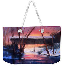 Winter At Bennett's Mill Weekender Tote Bag