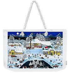 Winter At Black Butte Weekender Tote Bag