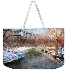 Winter At Cooper River Weekender Tote Bag