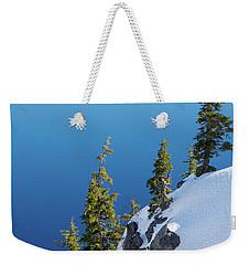 Winter At Crater Lake Weekender Tote Bag