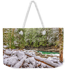 Weekender Tote Bag featuring the photograph Winter At Eagle Falls by Spencer McDonald