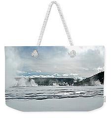 Winter At Grand Prismatic Weekender Tote Bag