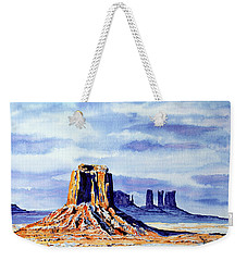 Winter At Merrick Butte Weekender Tote Bag
