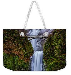 Winter At Multnomah Falls 2 Weekender Tote Bag