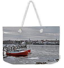 Winter At Newburyport Harbor Weekender Tote Bag