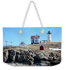 Winter At Nubble Point Weekender Tote Bag