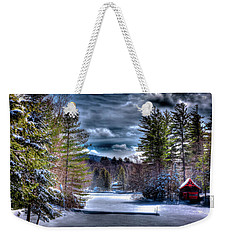 Weekender Tote Bag featuring the photograph Winter At The Boathouse by David Patterson