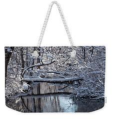 Winter At The Brook Weekender Tote Bag